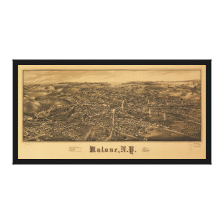 Aerial View of Malone, New York (1886) Canvas Print