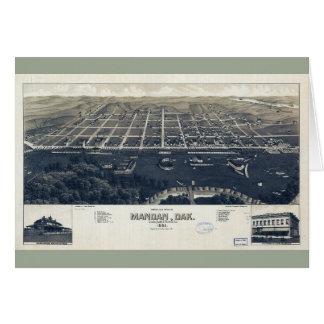 Aerial View of Mandan, North Dakota (1883) Card