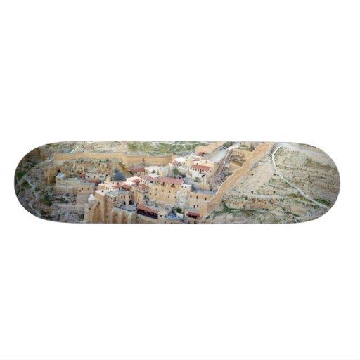 Aerial view of Mar Saba Monastery Skate Boards