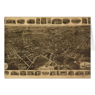 Aerial View of Middletown, New York (1921) Card