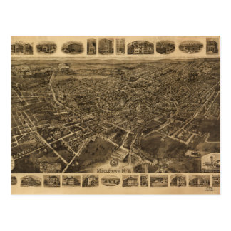 Aerial View of Middletown, New York (1921) Postcard