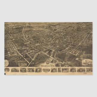Aerial View of Middletown, New York (1921) Rectangular Sticker