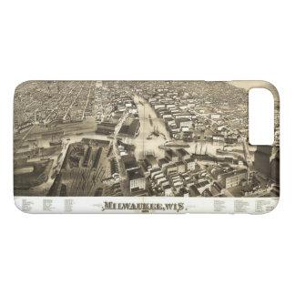 Aerial View of Milwaukee, Wisconsin (1879) iPhone 8 Plus/7 Plus Case