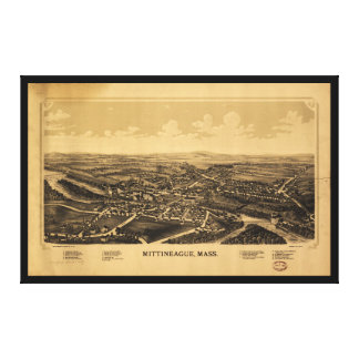 Aerial View of Mittineague, Massachusetts (1889) Canvas Print