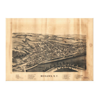 Aerial View of Mohawk, New York (1893) Canvas Print