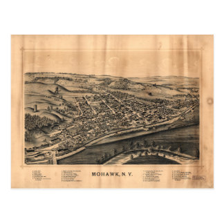 Aerial View of Mohawk, New York (1893) Postcard