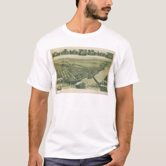 Aerial View of Morrisville, Pennsylvania (1893) T-Shirt