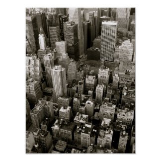 Aerial View of New York City Poster