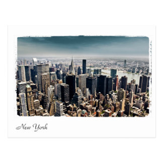 aerial view of New York Postcard