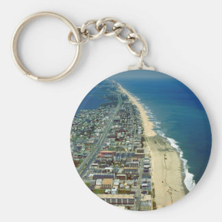 Aerial View of Ocean City Maryland Basic Round Button Key Ring