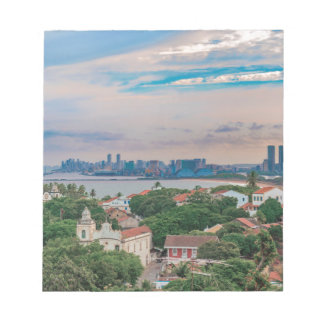 Aerial View of Olinda and Recife Pernambuco Brazil Notepad
