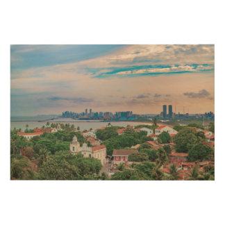 Aerial View of Olinda and Recife Pernambuco Brazil Wood Print