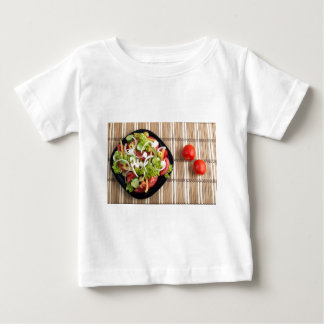 Aerial view of one portion of vegetable salad baby T-Shirt