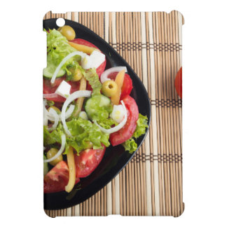 Aerial view of one portion of vegetable salad iPad mini cover