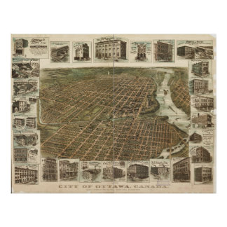 Aerial View of Ottawa, Canada (1895) Poster