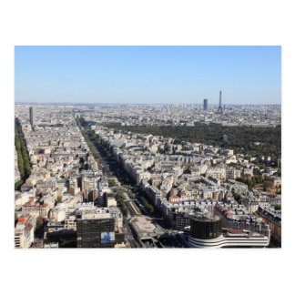 aerial view of PARIS 3 Postcard