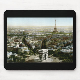 Aerial View of Paris, France Vintage Mouse Pad