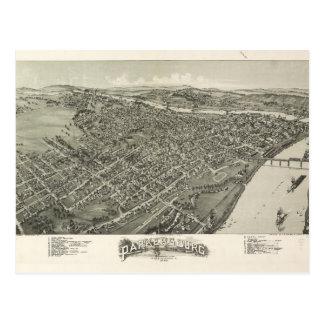 Aerial View of Parkersburg, West Virginia (1899) Postcard
