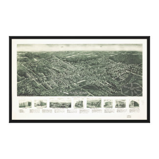 Aerial View of Pearl River, New York (1924) Canvas Print