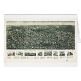 Aerial View of Pearl River, New York (1924) Card