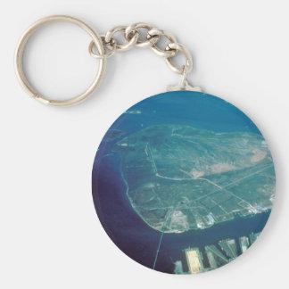 Aerial View of Pelican Island Key Ring