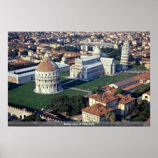 Aerial view of Pisa, Italy Print