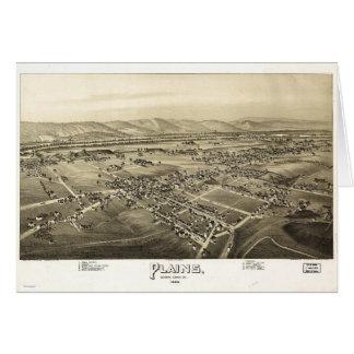 Aerial View of Plains, Pennsylvania (1892) Card