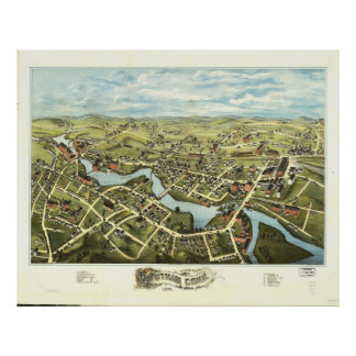 Aerial View of Putnam, Connecticut (1877) Poster