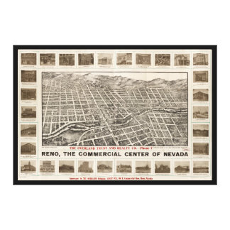 Aerial View of Reno, Nevada (1907) Canvas Print