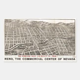 Aerial View of Reno, Nevada (1907) Rectangular Sticker