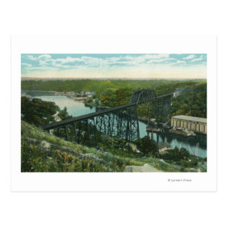 Aerial View of Rondout Creek and Wilbur Bridge Postcard