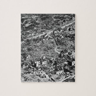 Aerial view of ruins of Vaux,France,1918_War Image Puzzles