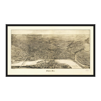 Aerial View of Saint Paul, Minnesota (1906) Canvas Print