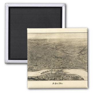 Aerial View of Saint Paul, Minnesota (1906) Magnet