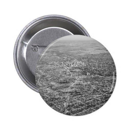 Aerial View of San Antonio, 1939 Pinback Buttons