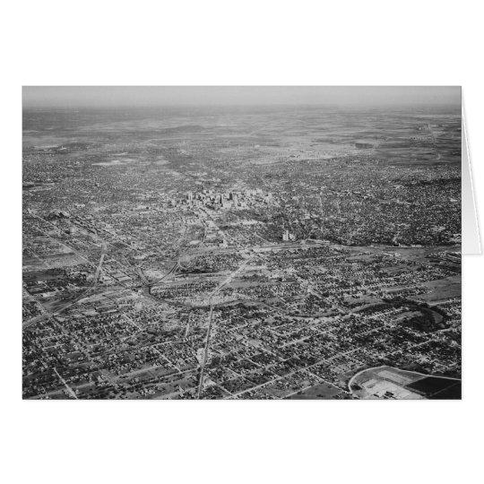 Aerial View of San Antonio, 1939 Card