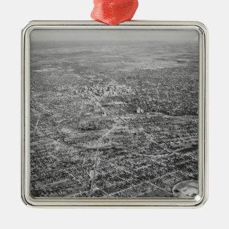 Aerial View of San Antonio, 1939 Silver-Colored Square Decoration