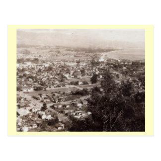 Aerial View of Santa Barbara, California Vintage Postcard