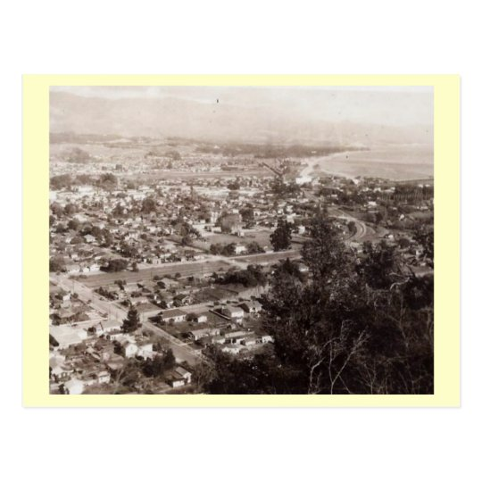 Aerial View of Santa Barbara, California Vintage Postcard