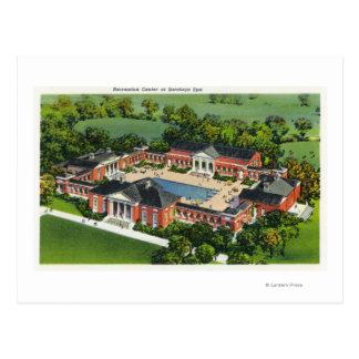 Aerial View of Saratoga Spa Recreation Center Postcard