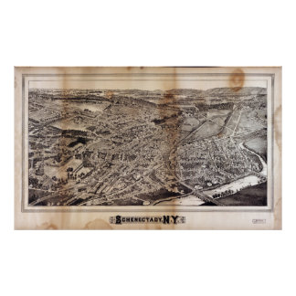 Aerial View of Schenectady, New York (1882) Poster
