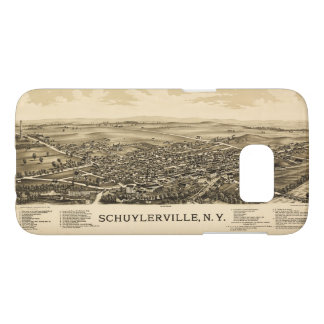 Aerial View of Schuylerville, New York (1889)