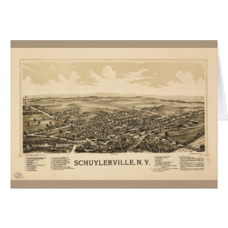 Aerial View of Schuylerville, New York (1889) Card