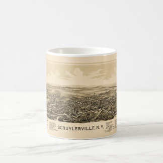 Aerial View of Schuylerville, New York (1889) Coffee Mug