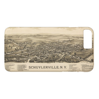 Aerial View of Schuylerville, New York (1889) iPhone 8 Plus/7 Plus Case