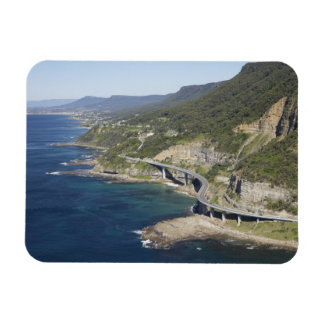 Aerial view of Sea Cliff Bridge near Wollongong, 2 Rectangular Photo Magnet