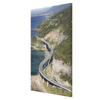 Aerial view of Sea Cliff Bridge near Wollongong, Gallery Wrapped Canvas