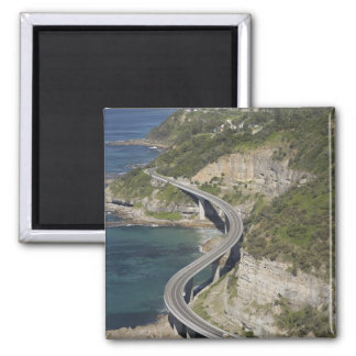 Aerial view of Sea Cliff Bridge near Wollongong, Square Magnet
