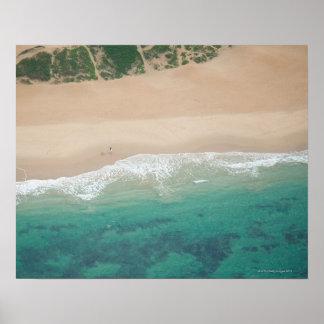 Aerial view of Sea view Beach, Port Elizabeth, Poster