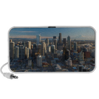 Aerial view of Seattle city skyline Travel Speaker